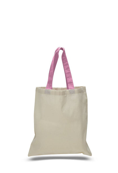 opqtb6000-economical-tote-bag-w-color-handles-Chocolate-Oasispromos