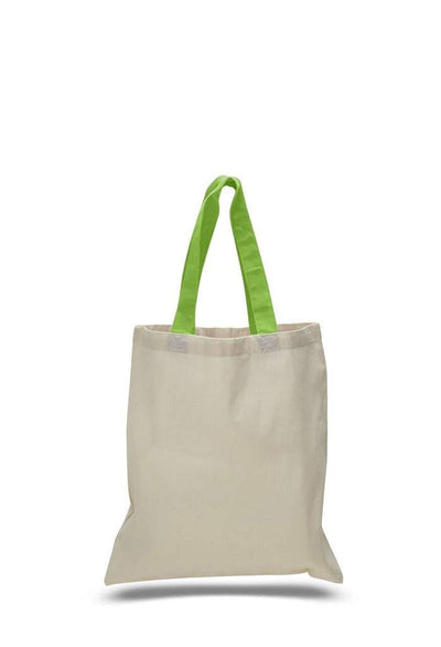 opqtb6000-economical-tote-bag-w-color-handles-Lime Green-Oasispromos