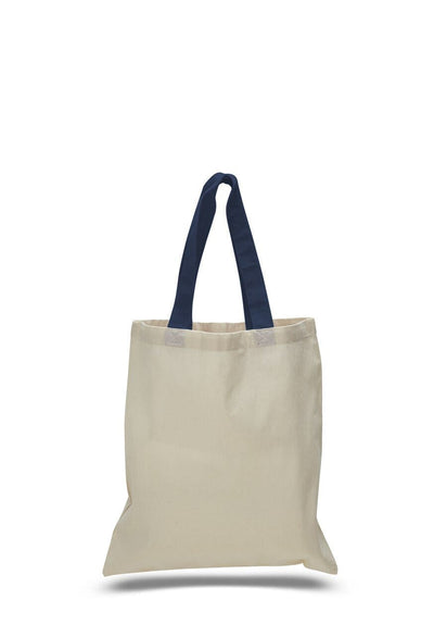 opqtb6000-economical-tote-bag-w-color-handles-Forest Green-Oasispromos