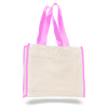 OPW1100 Canvas Tote Bag With Color Handles and Matching Accent - Light Pink:11242.preview.png