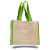 OPW1100 Canvas Tote Bag With Color Handles and Matching Accent - Lime:11243.preview.png