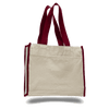 OPW1100 Canvas Tote Bag With Color Handles and Matching Accent - Maroon:11244.preview.png