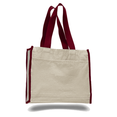 opw1100-canvas-tote-bag-with-color-handles-and-matching-accent-Lime Green-Oasispromos