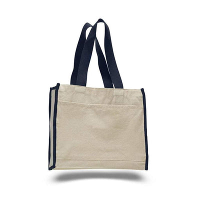 opw1100-canvas-tote-bag-with-color-handles-and-matching-accent-Navy Blue-Oasispromos