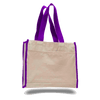 OPW1100 Canvas Tote Bag With Color Handles and Matching Accent - Purple:11247.preview.png