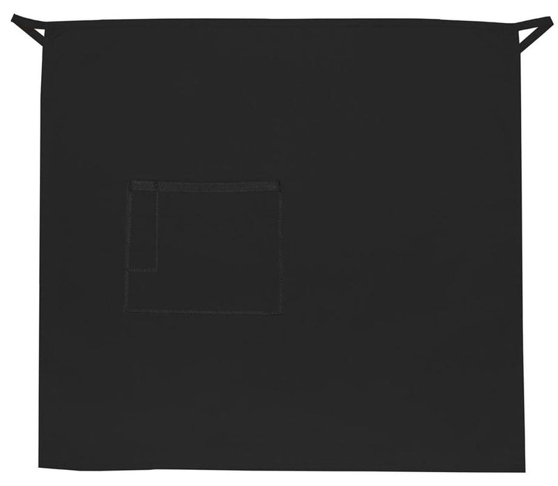 one-pocket-3-4-bistro-apron-w-pencil-divide-ds-118-Black-Oasispromos