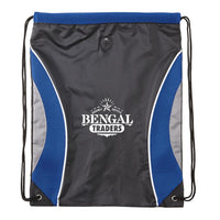 Pinnacle Mesh Drawstring Backpack - Royal Blue:9624.preview.jpg