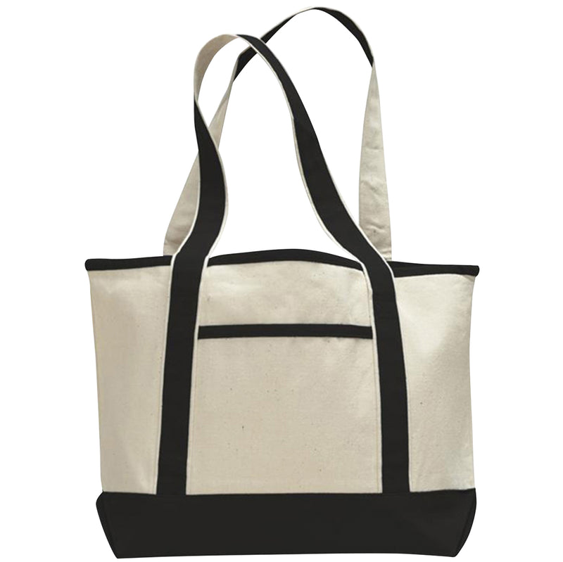 cotton-canvas-llbean-style-boat-bag-Natural / Black-Oasispromos