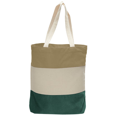 cotton-canvas-qtees-tri-color-tote-bag-Navy Blue / Natural / Carolina Blue-Oasispromos