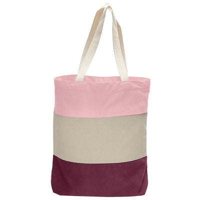 cotton-canvas-qtees-tri-color-tote-bag-Purple / Natural / Lavender-Oasispromos
