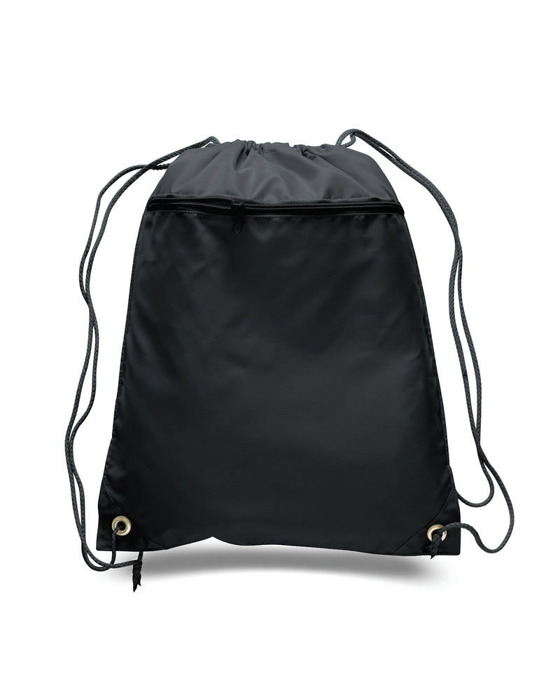 opq135200-polyester-cinch-bag-with-front-zipper-Black-Oasispromos