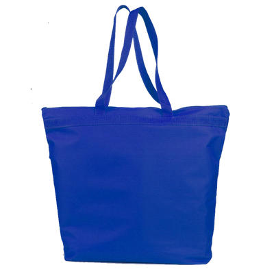 opq91221-polyester-deluxe-zippered-tote-bag-Royal Blue-Oasispromos