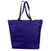 opq91221-polyester-deluxe-zippered-tote-bag-Navy Blue-Oasispromos