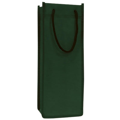tfb71-single-bottle-wine-tote-bag-Hunter Green-Oasispromos