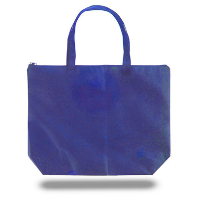 tfb85-zippered-non-woven-tote-bag-Royal Blue-Oasispromos