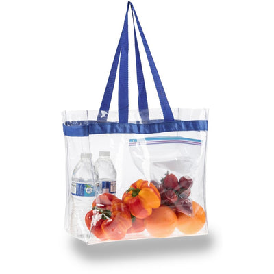 tfb92-clear-pvc-tote-Royal Blue-Oasispromos