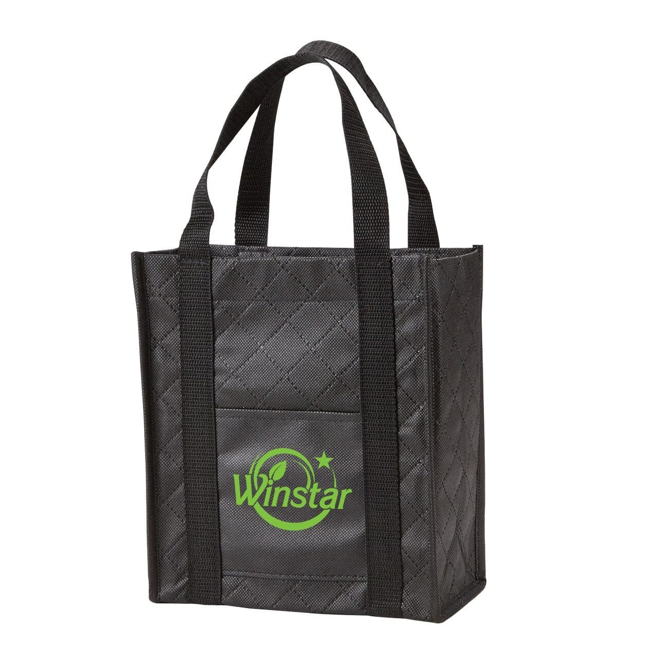 Quilted Non-Woven Gift Tote - Black:9818.preview.jpg