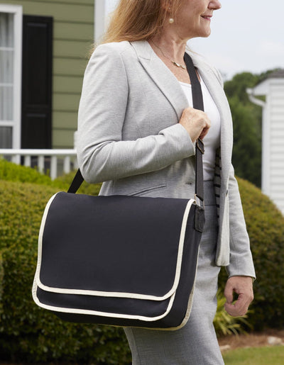 bg1270-modern-classy-canvas-satchel-messenger-bag-with-top-flap-and-inside-zippered-pocket-Black / Natural-Oasispromos
