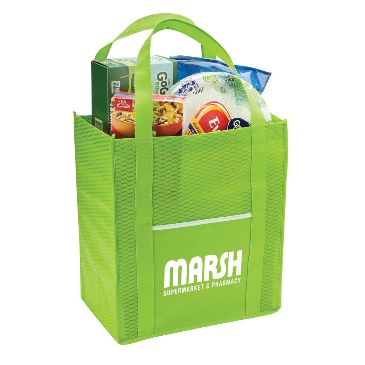 Riptide Non-Woven Grocery Tote - Lime:9551.preview.jpg