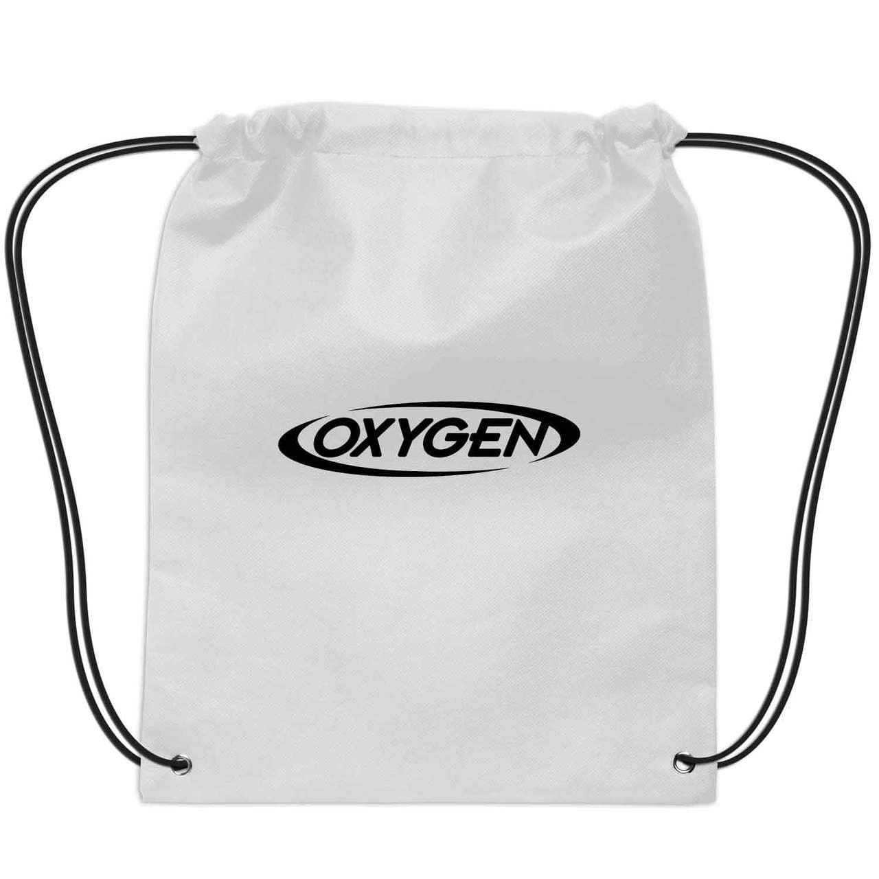 Small Non-Woven Drawstring Backpack - White:9582.preview.jpg