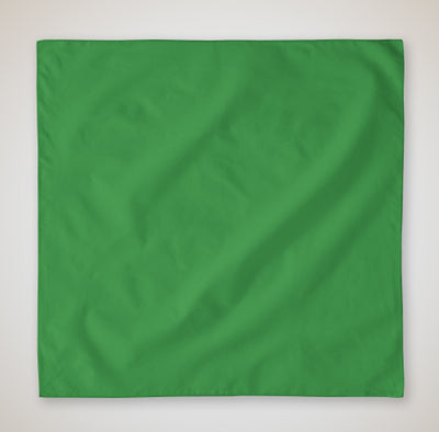 b5000-100-micro-polyester-solid-color-bandanna-face-cover-22x22-Kelly Green-Oasispromos