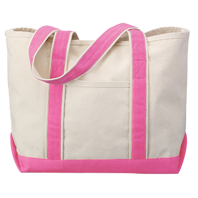 tf1258-hyp-beach-tote-classic-boat-bag-in-solid-colors-Solid Hot Pink-Oasispromos