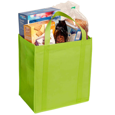 non-woven-grocery-tote-Hunter Green-Oasispromos