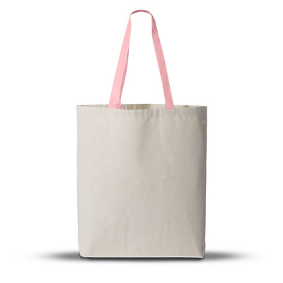 TFW4400 - 11L Canvas Tote With Color Polyester Web Handles