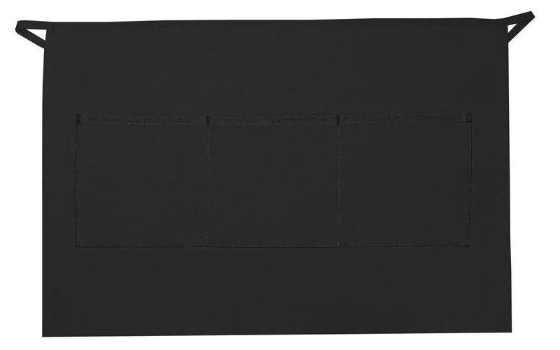 three-pocket-half-bistro-apron-ds-113-Black-Oasispromos