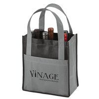 Toscana Six Bottle Non-Woven Wine Tote - Grey:12047.preview.png