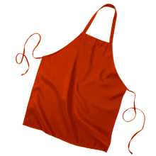 OPQ4010 Butcher Apron - Red:#FF3B3B