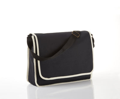 BG1270 - Modern Classy Canvas Satchel / Messenger Bag with top flap and inside Zippered Pocket - Oasis Promos