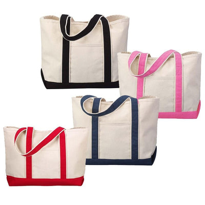 tf1258-hyp-beach-tote-classic-boat-bag-in-solid-colors-Natural / Navy Blue-Oasispromos