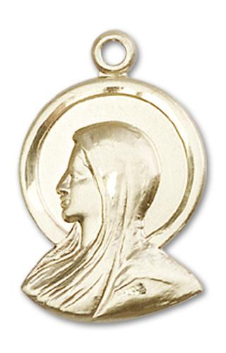 Windows of Heaven Catholic Gifts | windowsofheavenco.com | 14kt Gold Madonna Medal with Medal Only
