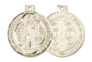 14kt Gold St. Benedict Medal | Windows of Heaven Catholic Gifts | windowsofheavenco.com