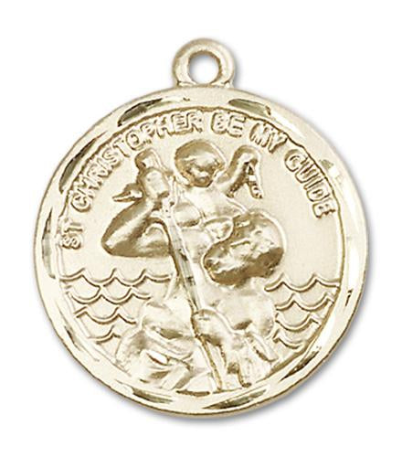 14kt Gold St. Christopher Medal | Windows of Heaven Catholic Gifts | windowsofheavenco.com