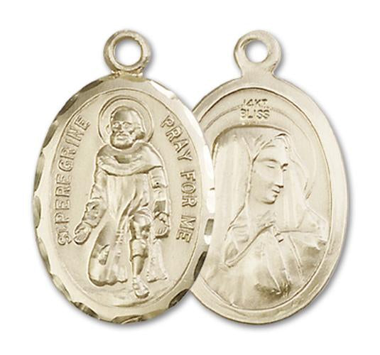 14kt Gold St. Peregrine Medal | Windows of Heaven Catholic Gifts | windowsofheavenco.com