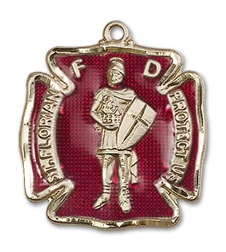 14kt Gold St. Florian Medal | Windows of Heaven Catholic Gifts | windowsofheavenco.com