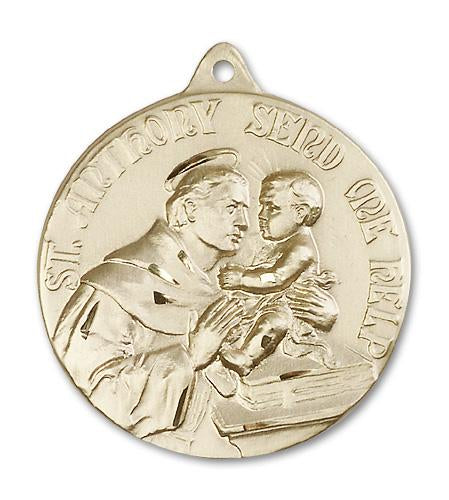 14kt Gold St. Anthony Medal | Windows of Heaven Catholic Gifts | windowsofheavenco.com