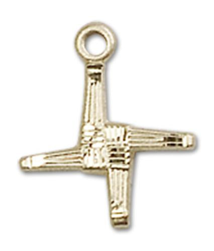14kt Gold St. Brigid Medal | Windows of Heaven Catholic Gifts | windowsofheavenco.com