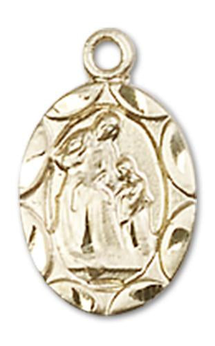 14kt Gold St. Ann Medal | Windows of Heaven Catholic Gifts | windowsofheavenco.com