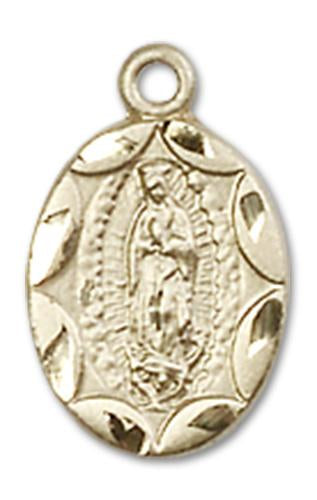 Windows of Heaven Catholic Gifts | windowsofheavenco.com | 14kt Gold Our Lady of Guadalupe Medal with Medal Only