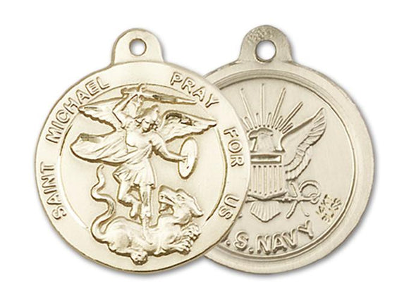 14kt Gold St. Michael the Archangel Medal | Windows of Heaven Catholic Gifts | windowsofheavenco.com