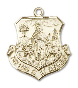 Windows of Heaven Catholic Gifts | windowsofheavenco.com | 14kt Gold Lord Is My Shepherd Medal with Medal Only