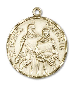 14kt Gold St. Raphael the Archangel Medal | Windows of Heaven Catholic Gifts | windowsofheavenco.com