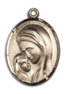 Windows of Heaven Catholic Gifts | windowsofheavenco.com | 14kt Gold Madonna & Child Medal