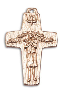 Windows of Heaven Catholic Gifts | windowsofheavenco.com | 14kt Gold Papal Crucifix Medal