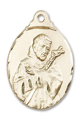 14kt Gold St. Francis Medal | Windows of Heaven Catholic Gifts | windowsofheavenco.com