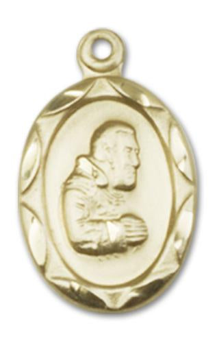 14kt Gold St. Pio of Pietrelcina Medal | Windows of Heaven Catholic Gifts | windowsofheavenco.com