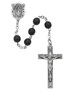Black Miraculous Rosary Boxed